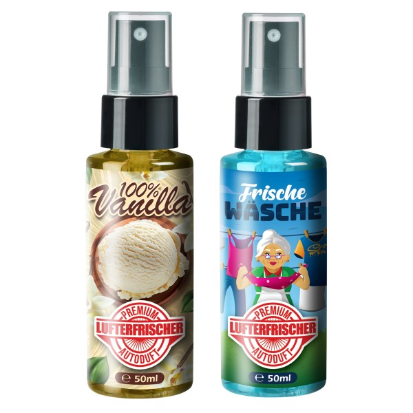 Flavour Bomb - 100% Vanilla + Frische Wäsche (2x50ml)