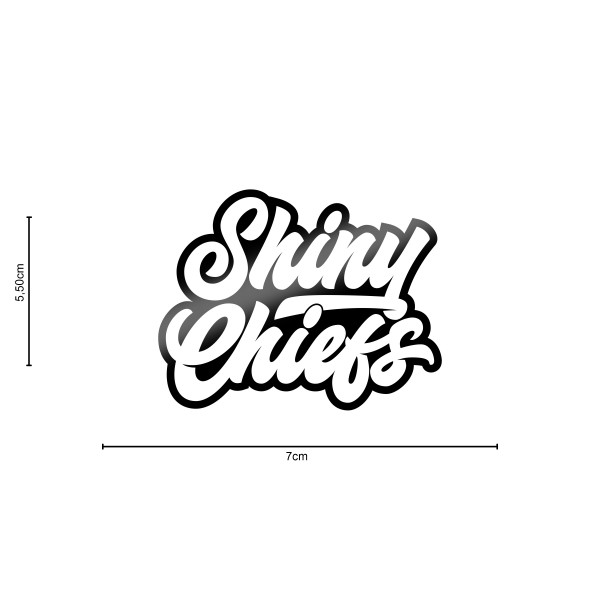 ShinyChiefs Sticker MOTIVE #1 SCHWARZ