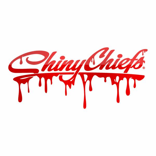 ShinyChiefs Sticker Glitter Red Chrom Splash