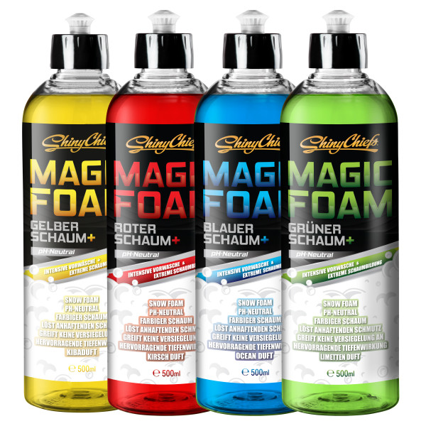 MAGIC FOAM COLOR KIT - SNOW FOAM (4x500ml)