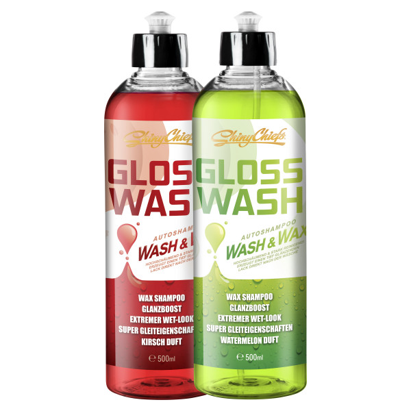 GLOSSWASH SHAMPOO KIT - WASH & WAX (2x500ml)