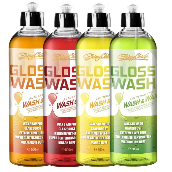 GLOSSWASH SHAMPOO KIT - WASH & WAX (4x500ml)