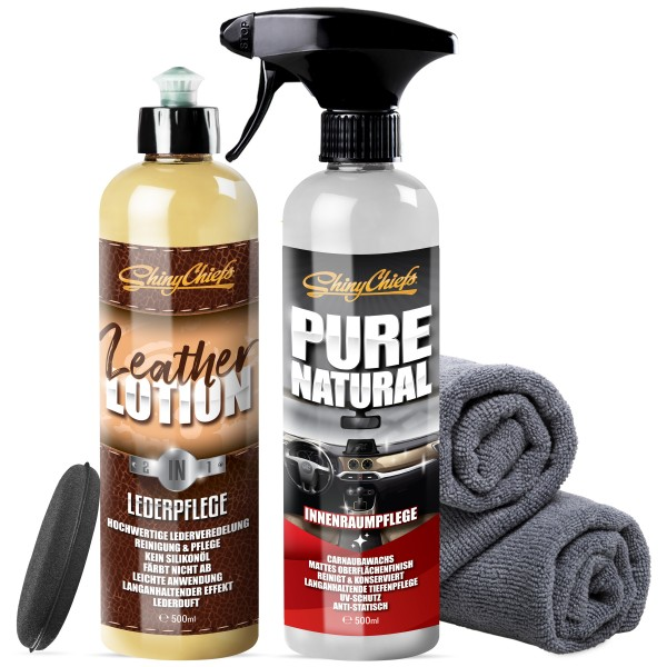 LEATHER LOTION + PURENATURAL SET
