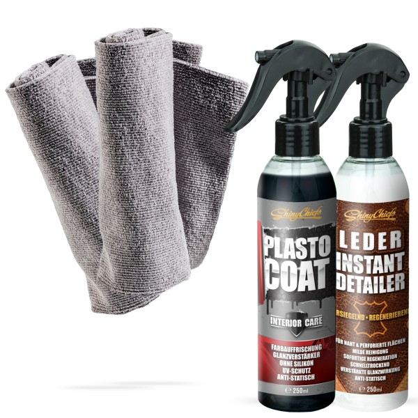 LEDER INSTANT DETAILER + PLASTO COAT SET (2x250ml)