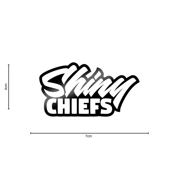 ShinyChiefs Sticker MOTIVE #4 SCHWARZ