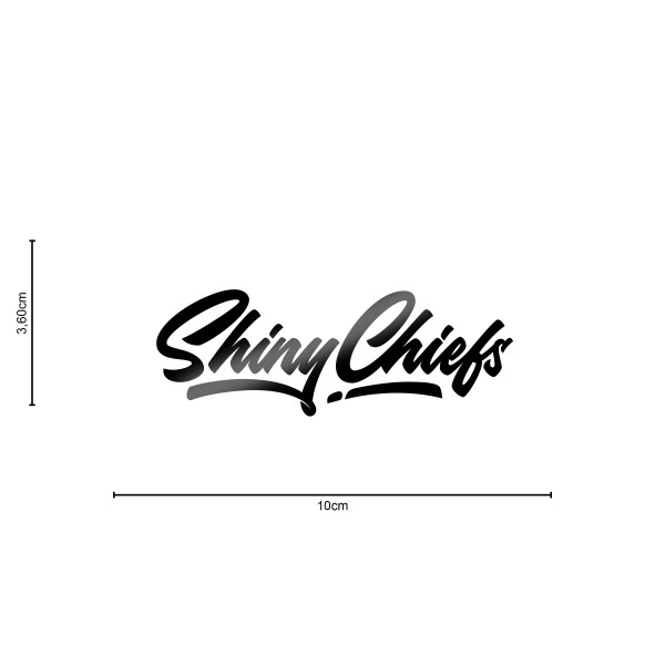 ShinyChiefs Sticker MOTIVE #3 SCHWARZ