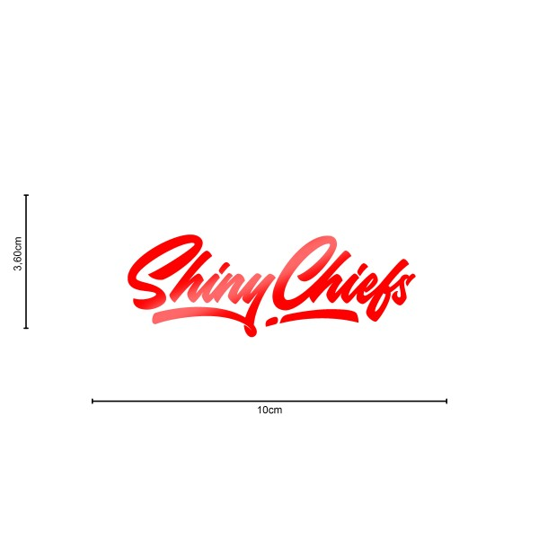 ShinyChiefs Sticker MOTIVE #3 ROT
