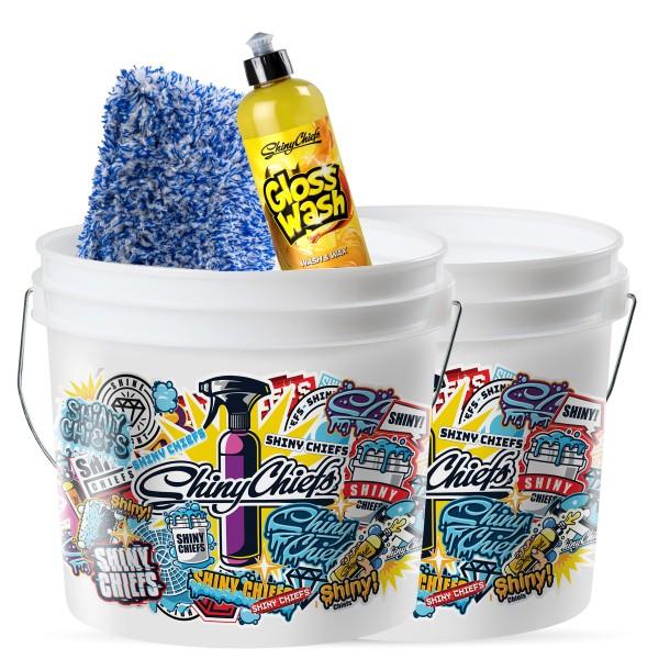 FLEECY + GLOSSWASH 500ml + 13,5L Bucket Set