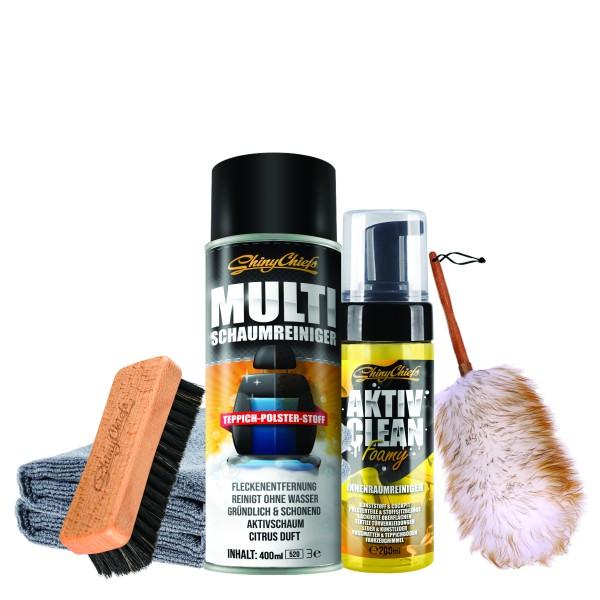 AKTIV CLEAN FOAMY + Multischaumreiniger + DIRT BUSTER Set