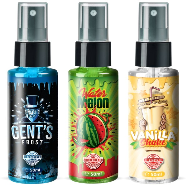 Flavour Bomb - Water Melon + GENT`S FROST + VANILLA Shake (3x50ml)